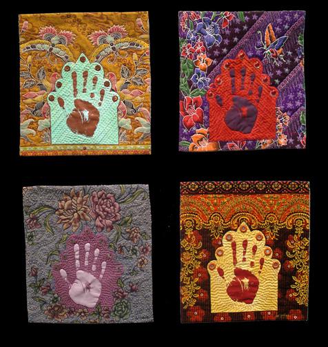 hands <br>13 x 14 (each)