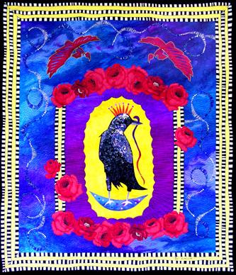 crow retablo <br>30 x 26