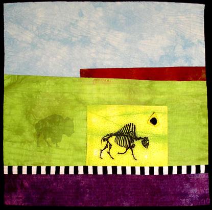 prairie palimpset i: buffalo roam free <br>24 x 24
