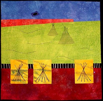 prairie palimpset iii: bury my heart <br>24 x 24